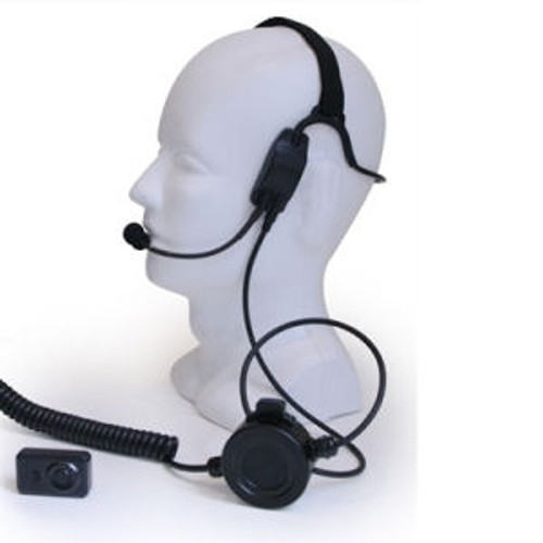 Kenwood NX-200 Temple Transducer Headset With Wireless PTT