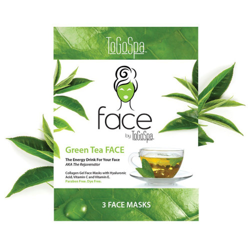 ToGoSpa Green Tea Face Collagen Gel Mask