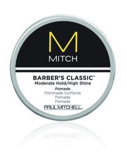 Paul Mitchell Mitch Barber's Classic Moderate Hold/High Shine Pomade, 3-oz