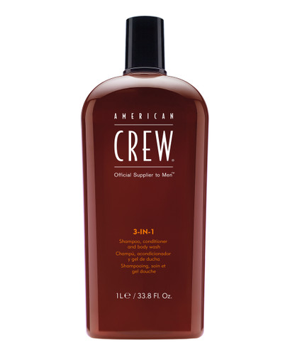 American Crew 3-in-1 Shampoo Conditioner Body Wash, 33.8oz