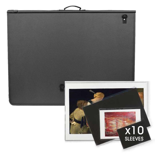 P39. A4, A3, A2, A1 Ref Art Portfolio With Ring Binder Mechanism LEATHER Look