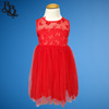 W117 Girls Red Butterfly Party Dress