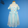 W122 Girls Floral Cotton Tulle Party Dress