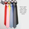302 Striped Colour Zipper Necktie
