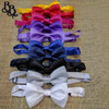 BW04 Boys coloured satin bowtie