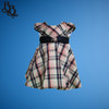 BU351 Baby Girl Pink Navy Plaid Cotton Dress