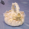 BKT2 Colour Floral Lace Flowergirl Wedding Basket