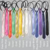 402 Boys Colour Zipper Adjustable Necktie Thin Profile