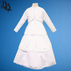 BU330 Girl Toddler Floral and Pearl Satin Dress with Bolero