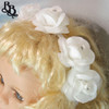 FL02 White Floral Headband