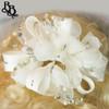FL12 White Floral Diamante Headpiece