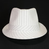 J410 Large Pinstripe Fedora Hat