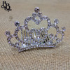 N703 Girls Heart Crown Diamante Tiara