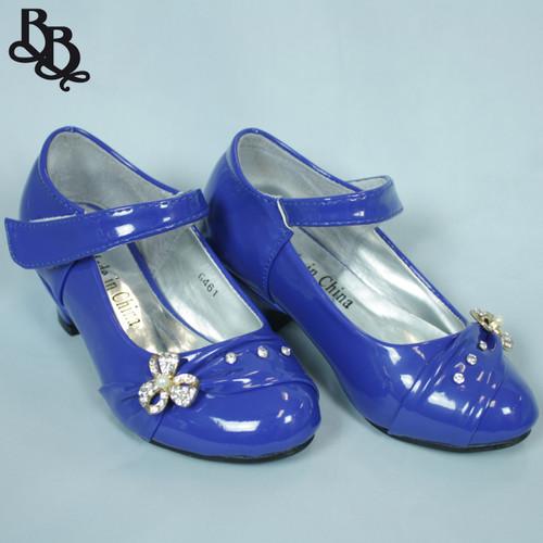 G461 Girls Patent Formal Heeled Shoe