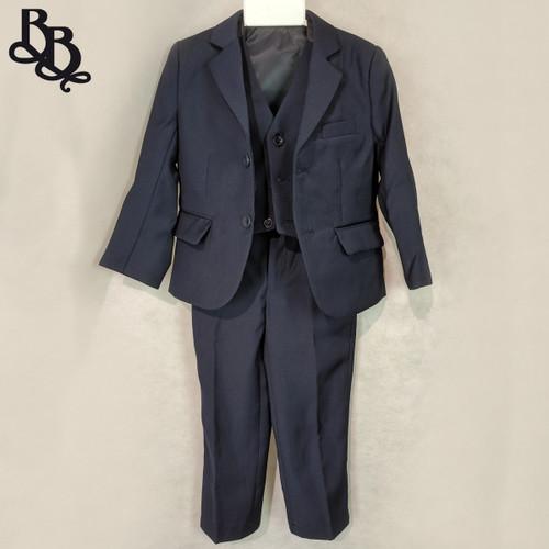 NN563 Boys Navy Suit 3 Piece