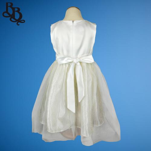 W016 Girls White Formal Dress