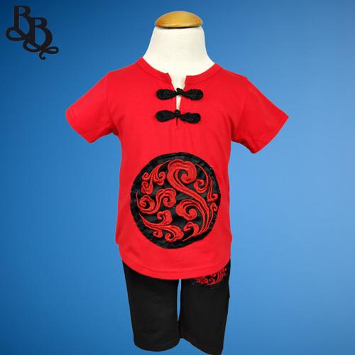 W102 2 Piece Girls Chinese Cotton Set