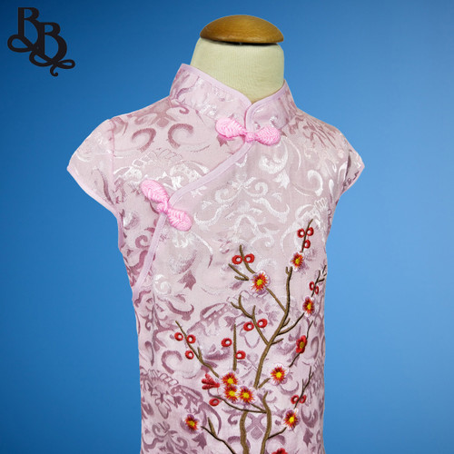 W111 Girls Floral Cheongsam Dress