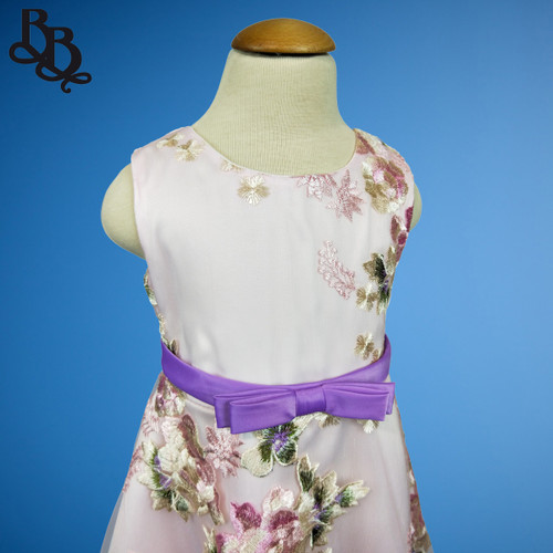 W113 Girls Floral Party Dress