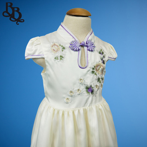 W114 Girls Floral Party Dress