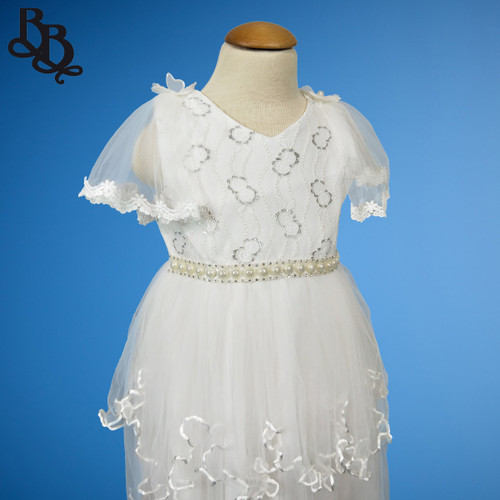 W116 Girls White Formal Party Dress
