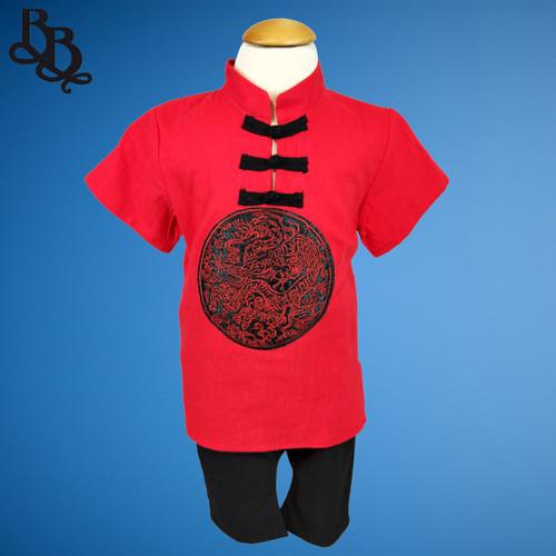 W105 2 Piece Boys Chinese Cotton Set