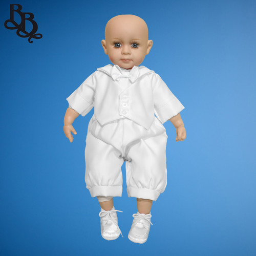 BB25 Boys Simple Christening Baptism Romper