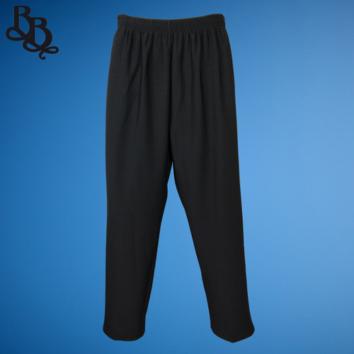 NN547 Ladies Plain Black Winter Trouser