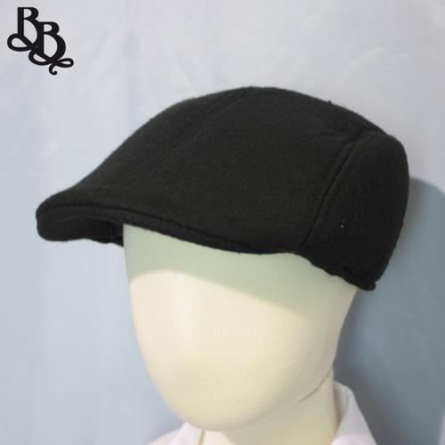 L258 Boys Plain Black Ivy Cap Hat
