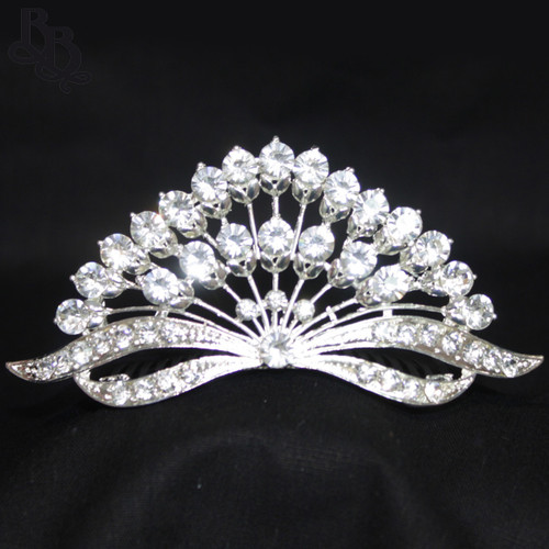 1038 Regular Size Peacock Tail Tiara
