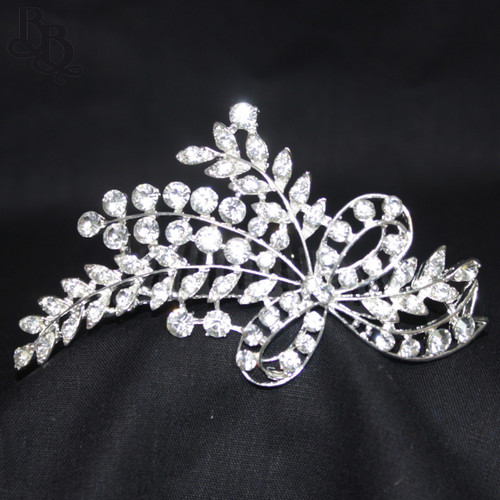 1039 Regular Size Twig and Ribbon Rhinestone Tiara