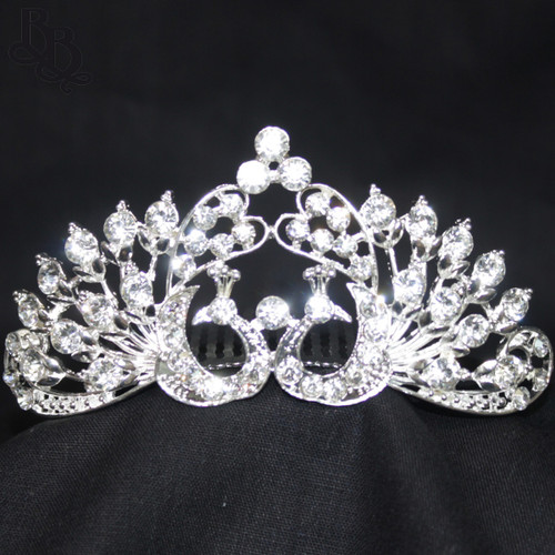 1056 Regular Size Peacock Design Rhinestone Tiara