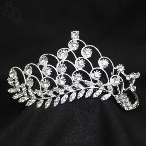 1061 Regular Size Peacock Tail Rhinestone Tiara