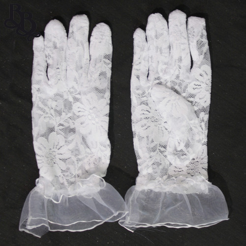 2070 Little Girls Lace Formal Gloves