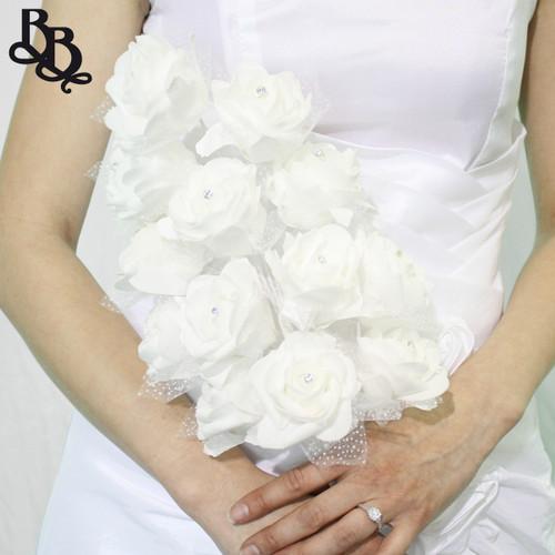 L521 White Wedding Bouquet / Ornament with Diamante