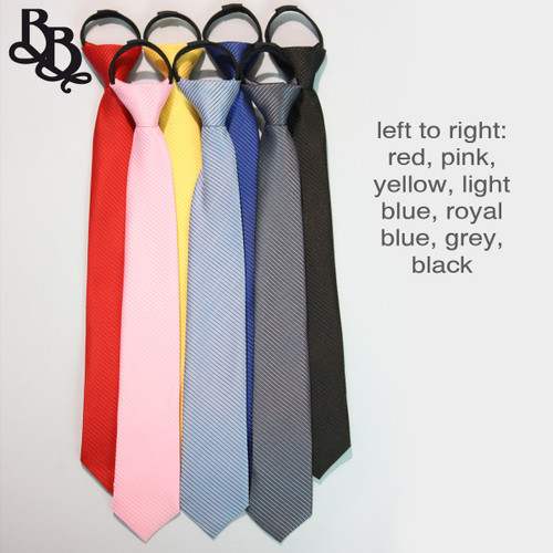 302 Striped Colour Zipper Necktie