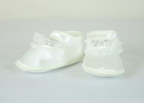 G60 Baby Girls Lace Christening Shoe