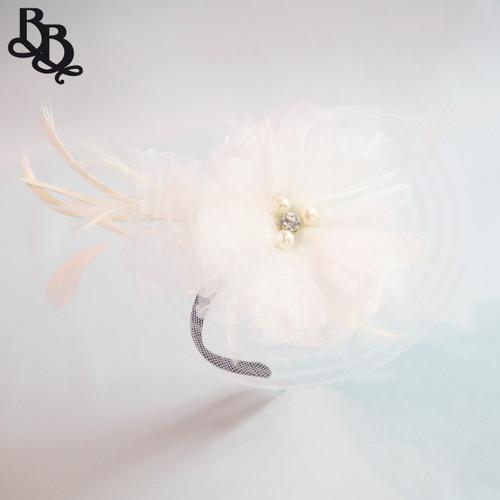 L583 Floral Feather Fascinator Headband