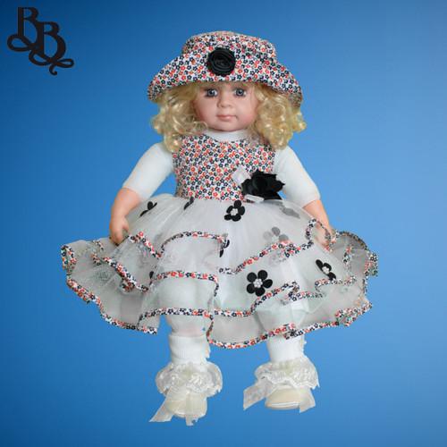 BU381 Orange Black Cotton Tulle Dress