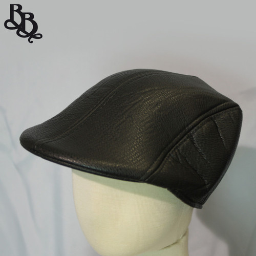 N296 Boys Faux Leather Ivy Cap Hat
