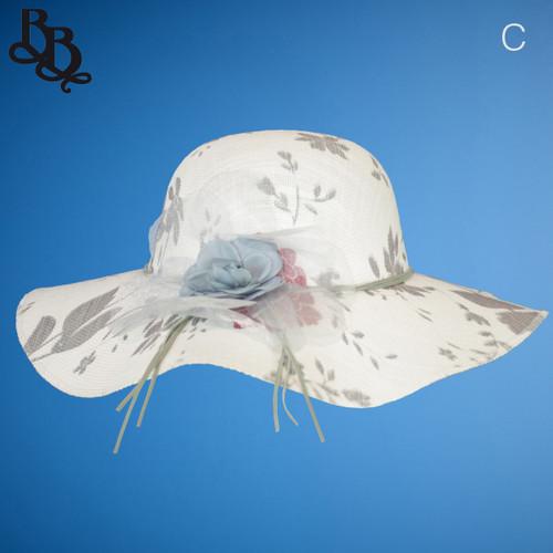 Ladies / Girls Patterned Summer Sun Hat N370