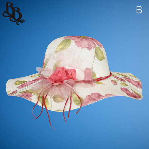 Ladies / Girls Patterned Summer Sun Hat N370