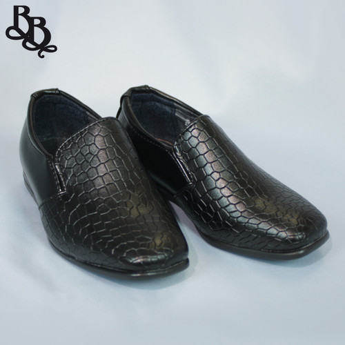B315 Boys Faux Leather Shoe
