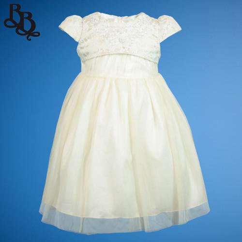BU450 Baby Girls Champagne Dress