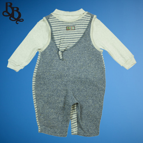 Baby toddler 2 piece cotton overalls 9572