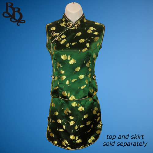 256 Lady Chinese Oriental Cheongsam Top