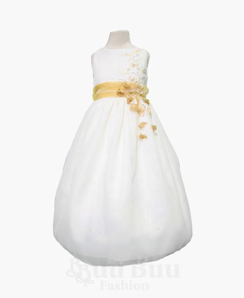BU328 Chiffon Floral Formal Dress
