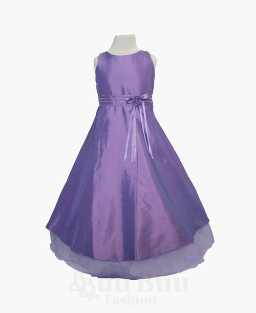 BU300 Simple Colour Party Dress