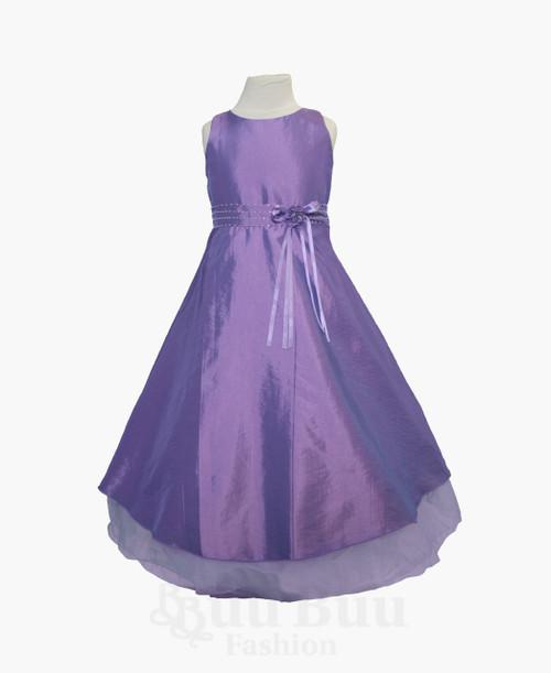 BU300 Simple Colour Party Dress