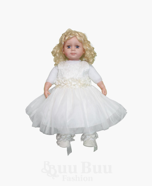 BU396 Embroidered Floral Tulle Flowergirl Dress